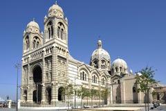 Domkyrka Sainte Marie Majeure de Marseille Arkivbilder