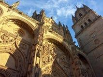 Domkyrka Salamanca, Spanien Royaltyfria Foton