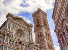 Domkyrka Santa Maria del Fiore, Duomo, i Florence, Tuscany, Italien Royaltyfri Fotografi