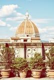 Domkyrka Santa Maria del Fiore i Florence, Tuscany royaltyfri bild