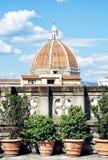 Domkyrka Santa Maria del Fiore i Florence, Tuscany, Italien Arkivfoton