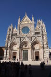 Domkyrka Siena, Italien arkivbilder