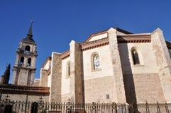 Domkyrka som är magistral av Saints Justus, Alcala de Henares, Madrid royaltyfria bilder
