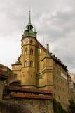 Domkyrka St.Nicholas Fribourg, Schweitz Royaltyfria Foton