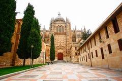 Domkyrka Vieja (den gammala domkyrkan), Salamanca Royaltyfri Bild