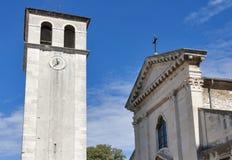 Domkyrkaantagande av den välsignade jungfruliga Maryen i Pula, Kroatien Royaltyfria Bilder