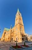 Domkyrkabasilika av St Stanislaus Kostka (1912) i Lodz Arkivfoto