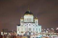 domkyrkachrist moscow russia frälsare Arkivfoto