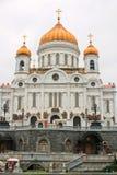 domkyrkachrist moscow russia frälsare arkivfoton