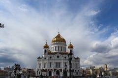 domkyrkachrist moscow russia frälsare royaltyfri bild