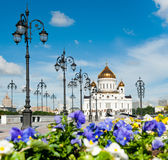 domkyrkachrist moscow russia frälsare Royaltyfria Bilder