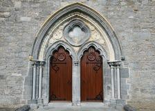 Domkyrkadörrar för St Canices Fotografering för Bildbyråer