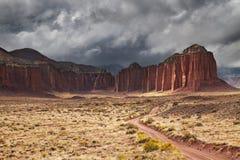 Domkyrkadal, Utah, USA arkivfoton