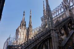 DomkyrkaDuomodi Milano i Italien royaltyfri foto