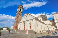 Domkyrkaduomoen San Giovanni Battista av Turin, Italien royaltyfria foton