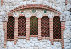domkyrkafönster royaltyfri bild