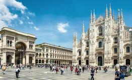 Domkyrkafyrkant i Milan Arkivbilder