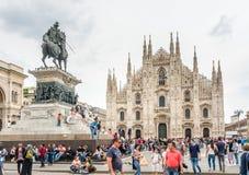 Domkyrkafyrkant i Milan, Italien Royaltyfri Bild