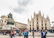 Domkyrkafyrkant i Milan, Italien Royaltyfri Foto