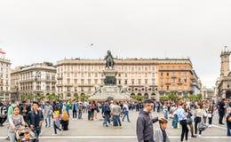 Domkyrkafyrkant i Milan, Italien Royaltyfria Foton