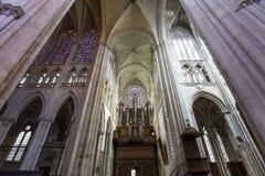 Domkyrkahelgon Gatien av Tours, Loire Valley, Frankrike Arkivfoto