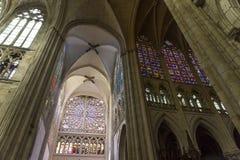 Domkyrkahelgon Gatien av Tours, Loire Valley, Frankrike Arkivbild