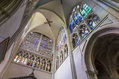 Domkyrkahelgon Gatien av Tours, Loire Valley, Frankrike Royaltyfria Foton