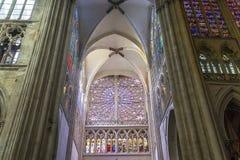 Domkyrkahelgon Gatien av Tours, Loire Valley, Frankrike Royaltyfria Bilder