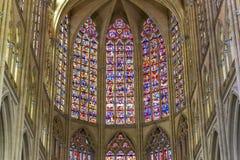 Domkyrkahelgon Gatien av Tours, Loire Valley, Frankrike Royaltyfri Bild