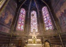 Domkyrkahelgon Gatien av Tours, Loire Valley, Frankrike Arkivfoton
