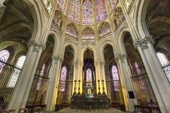 Domkyrkahelgon Gatien av Tours, Loire Valley, Frankrike Fotografering för Bildbyråer