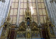 Domkyrkahelgon Gervais Saint Protais i Soissons, Frankrike Arkivfoto