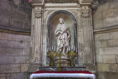 Domkyrkahelgon Gervais Saint Protais i Soissons, Frankrike Royaltyfri Bild
