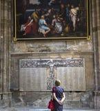 Domkyrkahelgon Gervais Saint Protais i Soissons, Frankrike Royaltyfria Bilder