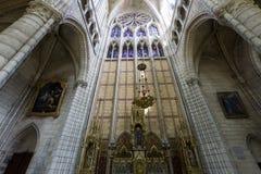 Domkyrkahelgon Gervais Saint Protais i Soissons, Frankrike Arkivbild