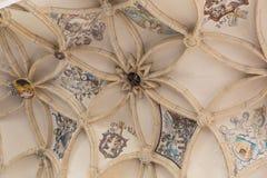 Domkyrkainre, Kutna Hora, Unesco-arvplats, centrala Bohemia, Tjeckien Royaltyfri Foto