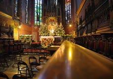Domkyrkainre på jultid arkivbilder