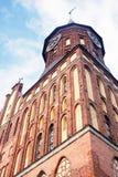 Domkyrkakyrka av Kaliningrad på den Kant ön Arkivfoton