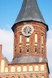 Domkyrkakyrka av Kaliningrad på den Kant ön Royaltyfri Bild