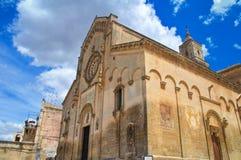 Domkyrkakyrka av Matera Basilicata italy arkivbilder
