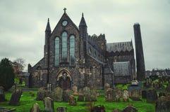 Domkyrkakyrka av St Canices i Kilkenny Fotografering för Bildbyråer
