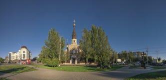 Domkyrkakyrka i Nikolaev, Ukraina royaltyfria bilder