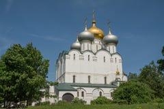 Domkyrkakyrkan av den Smolensk symbolen av modern av guden Arkivbilder