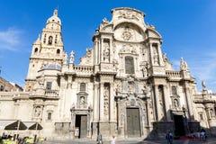 Domkyrkakyrkan av St Mary i Murcia Arkivbild