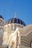 domkyrkalatvia ortodoxal riga ryss Royaltyfria Bilder