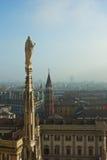 domkyrkamilan spire arkivbild