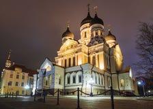 Domkyrkan av Alexander Nevsky i Tallinn, Estland Royaltyfri Bild