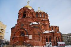 Domkyrkan av Alexander Nevsky novosibirsk Royaltyfria Foton