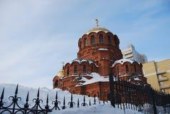 Domkyrkan av Alexander Nevsky novosibirsk siberia Arkivbilder