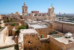 Domkyrkan av antagandet i mitt av citadellen i Gozo Royaltyfria Bilder